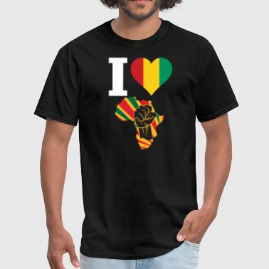 Guinea Conakry Black Power - Men's T-Shirt