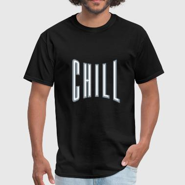 silhouette text chill relaxed relax calm upset cal - Men's T-Shirt