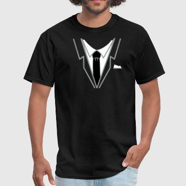 Fake Suit fake suit and tie (3c) - Men's T-Shirt