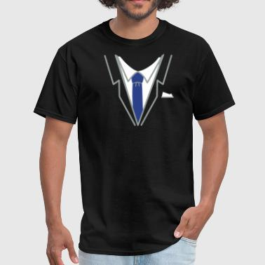 Suit Up fake suit and tie (3c) - Men's T-Shirt