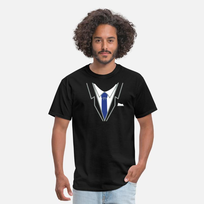 Suit T-Shirts - fake suit and tie (3c) - Men's T-Shirt black