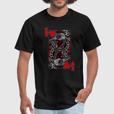 Playing Card King Design king of hearts Valentines Day (his and her) - Men's T-Shirt