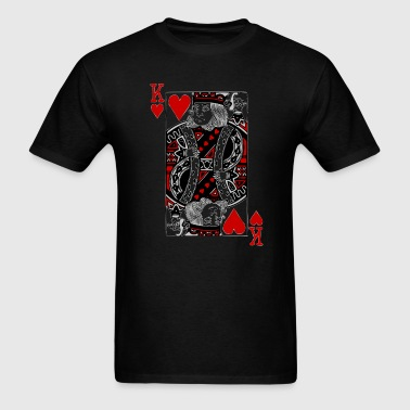 king of hearts Valentines Day (his and her) - Men's T-Shirt