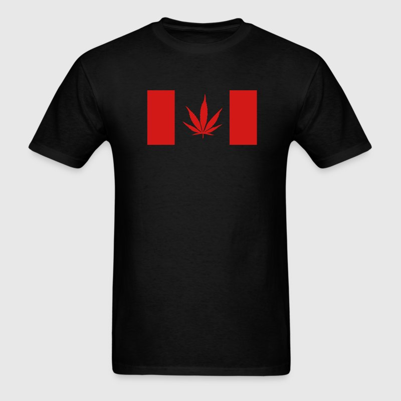 Canadian Weed Flag - Men's T-Shirt