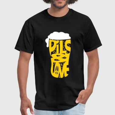 Pils and love flex - Men's T-Shirt