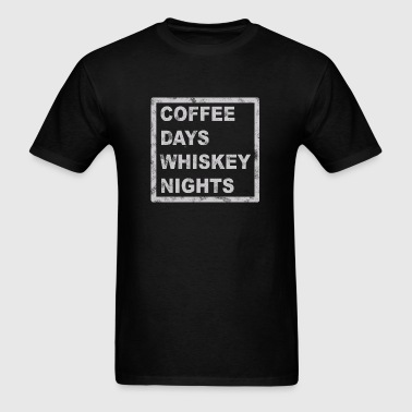 grey COFFEE DAYS AND WHIS - Men's T-Shirt