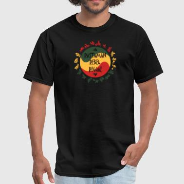 rastaman rebel reggae - Men's T-Shirt