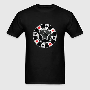 Poker Chip - Men's T-Shirt