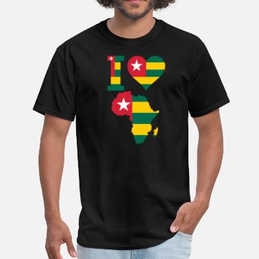 Togo Africa Map Togo Flag - Men's T-Shirt