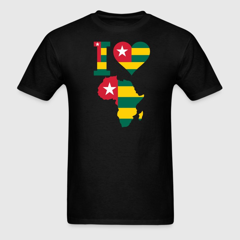 Africa Map Togo Flag - Men's T-Shirt