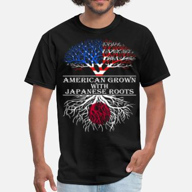 Japanese Roots American Grown With Japanese Roots - Men's T-Shirt