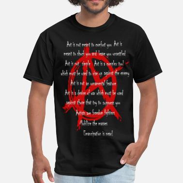 Original Art A is for ART - Men's T-Shirt