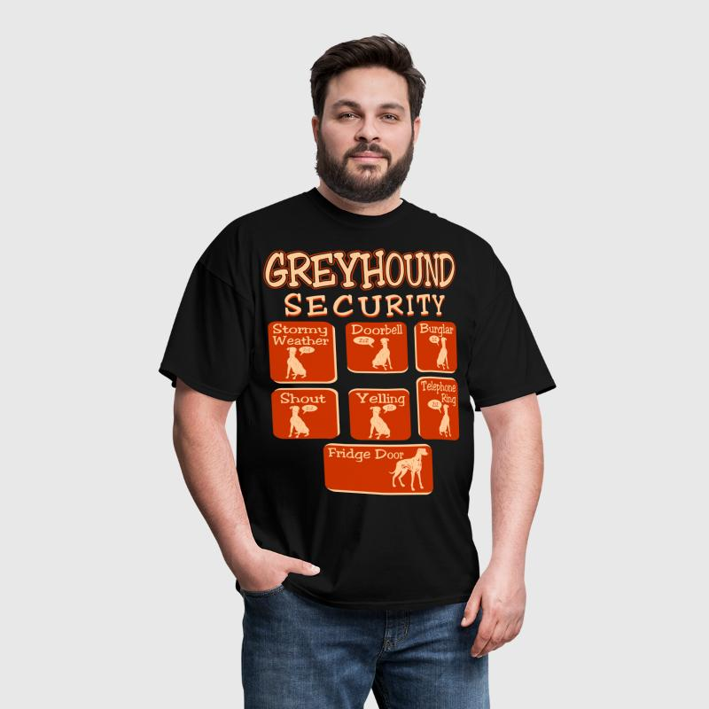 Greyhound Dog Security Pets Love Funny Tshirt - Men's T-Shirt
