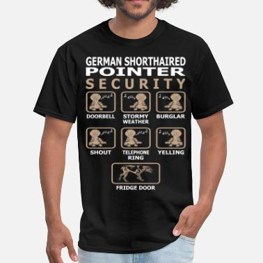 Pointer German Shorthaired Pointer Dog Security Pets Funny - Men's T-Shirt