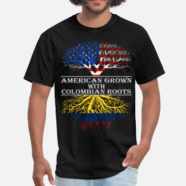 American With Colombian Roots American Grown With Colombian Roots - Men's T-Shirt