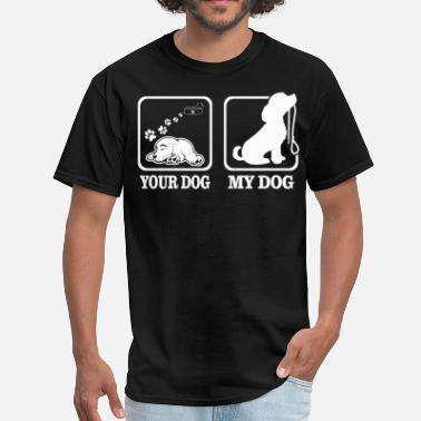 Dog Paw Your Dog My Dog Lets Go Walking Funny Tshirt - Men's T-Shirt