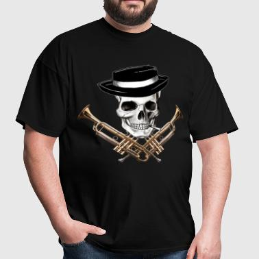 skull_with_trumpet_crossbones - Men's T-Shirt