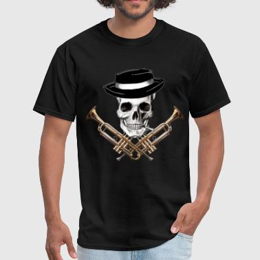 Doot skull_with_trumpet_crossbones - Men's T-Shirt