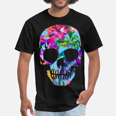 Neon TROPICAL SKULL - Men's T-Shirt