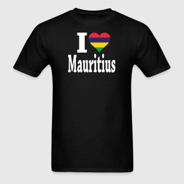 I Love Mauritius Flag  - Men's T-Shirt