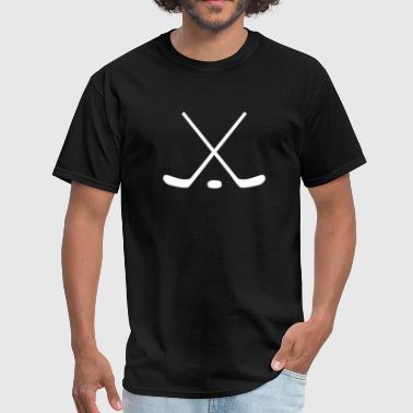 Ice Hockey Sticks and Puck - Men's T-Shirt