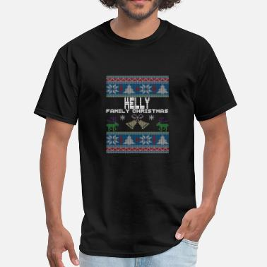 Holiday Ugly Kelly Christmas Family Vacation Tshirt - Men's T-Shirt