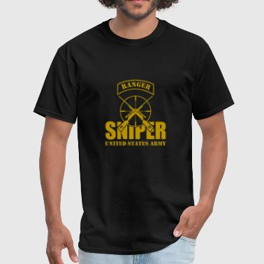 Sniper Tab Ranger US Army Team Sniper gold - Men's T-Shirt