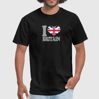 I Love Britain Union Jack Flag Pride Britain United Kingdom - Men's T-Shirt