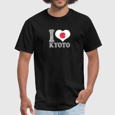 I Love Kyoto Japan Nihon Nippon Japanese Flag Pride - Men's T-Shirt