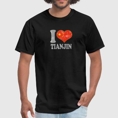 I Love Tianjin China Chinese Flag Pride - Men's T-Shirt