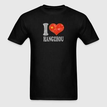I Love Hangzhou China Chinese Flag Pride - Men's T-Shirt