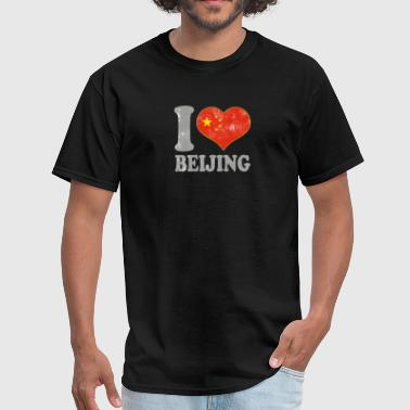 Flags Snowboarding I Love Beijing China Chinese Flag Pride - Men's T-Shirt