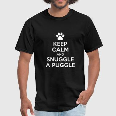Kevin Hart Dog - keep calm and snuggle a puggle dog lover p - Men's T-Shirt