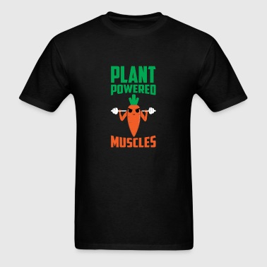 Plant Powered Muscles Carrot Root Vegetable Food - Men's T-Shirt