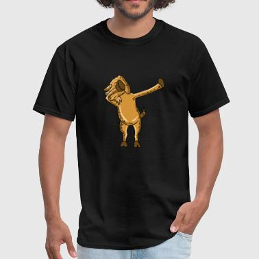 Dabbing Wild Goat Dab Dance Funny Animal Lover Pun - Men's T-Shirt