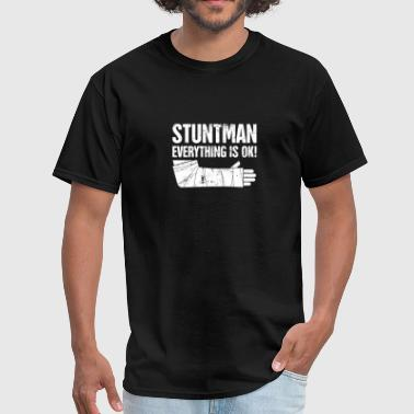 Stuntman - Funny Broken Wrist Get Well Soon Gift - Men's T-Shirt