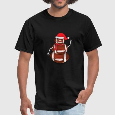 Rugby Christmas Rugby Schneemann Football Christmas - Men's T-Shirt