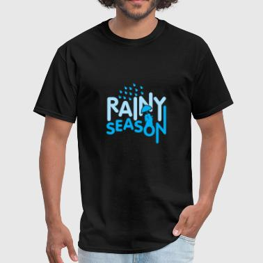 Rainy Season Couple Umbrella cute gift - Men's T-Shirt