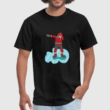 ICE HOCKEY DABBING PLAYER LOVERS FUNNY GIFT FAN - Men's T-Shirt