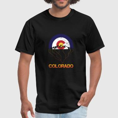 VINTAGE COLORADO FLAG ROCKY MOUNTAINS FUNNY GIFT - Men's T-Shirt