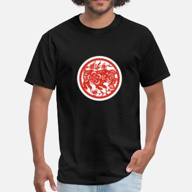 Spring Festival Red Paper Cutting Pig T-Shirt Spring Festival New - Men's T-Shirt