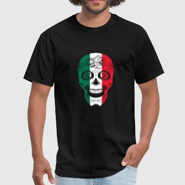 Dead Saint Mexico Flag Sugar Skull Calavera Day Of The Dead - Men's T-Shirt