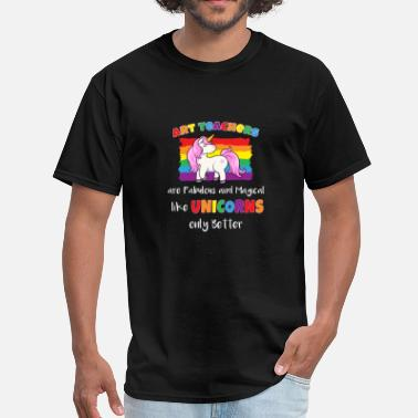 Art Student Unicorn Art Teacher School Rainbow Students Gift - Men's T-Shirt