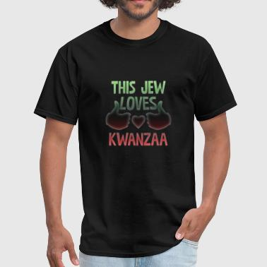 Birthday Candles This Jew Loves Kwanzaa Black Heritage Holiday Cool - Men's T-Shirt