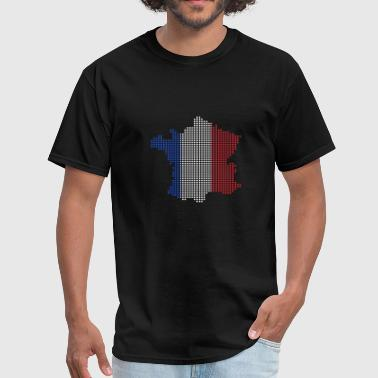 Kids French French Map France Gift Christmas Kids - Men's T-Shirt