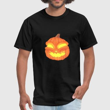 Glowing Eyes Halloween Design with Pumpkin and Glowing eyes - Men's T-Shirt