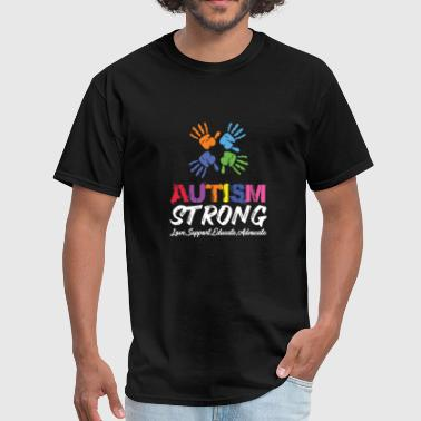 July Love, Support, Educate, Autism Strong. - Men's T-Shirt