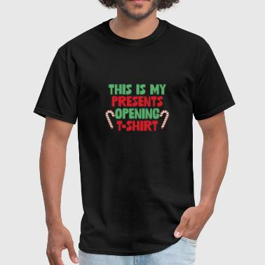 Santa T-shirt's This Is My Presents Opening T-Shirt Funny - Men's T-Shirt