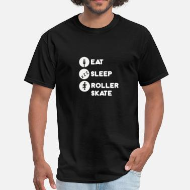 Roller Skating Sleeping Eat Sleep Roller Skate-Roller Skating-Total Basics - Men's T-Shirt