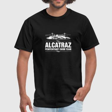 Funny Jail Prisoner Alcatraz Penitentiary Swim - Men's T-Shirt